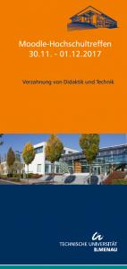 Flyer zum Moodle-Hochschultreffen an der TU Ilmenau