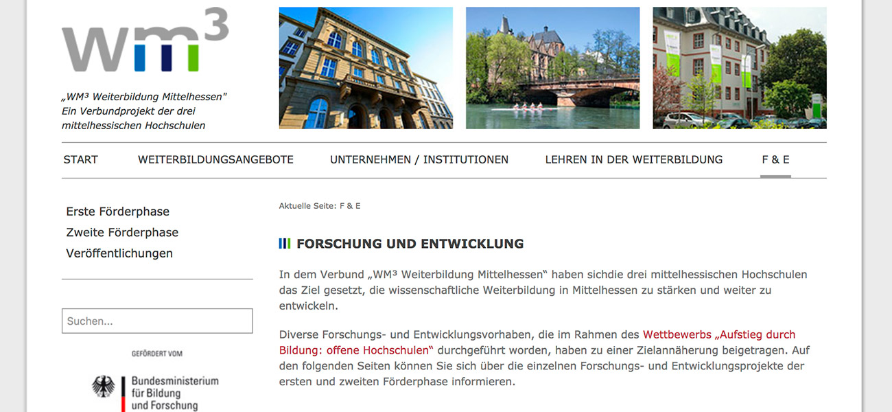 Screenshot Weiterbildung Mittelhessen