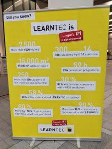 Foto von einem Plakat mit Fakten zur Learntec