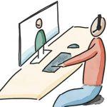 Videokonferenz-Schild Beitragsbild