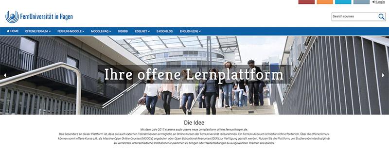 Screenshot Offene Lernplattform