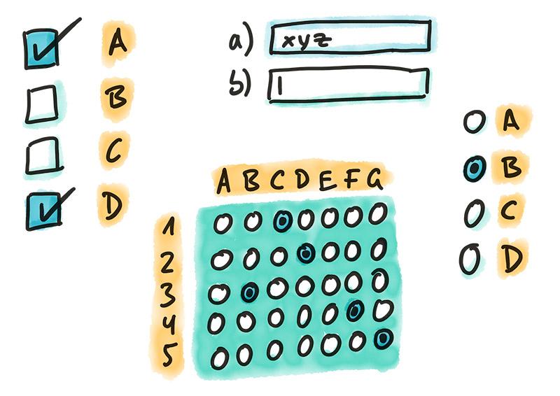 Illustration Online Übungssystem