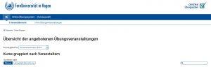 Screenshot Startseite Online Übungssystem