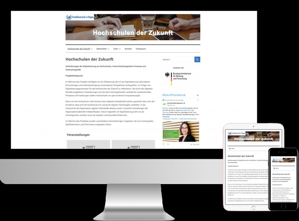 Themedarstellung für Projektwebsites