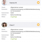 Lerngruppen App Screenshot Anfragen