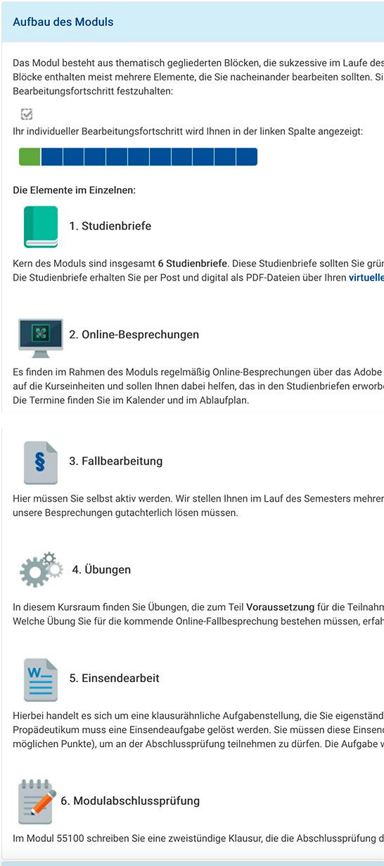 Screenshot ReWi Propädeutikum