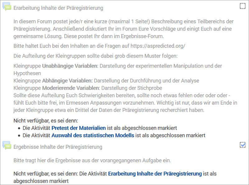 Screenshot: Forum