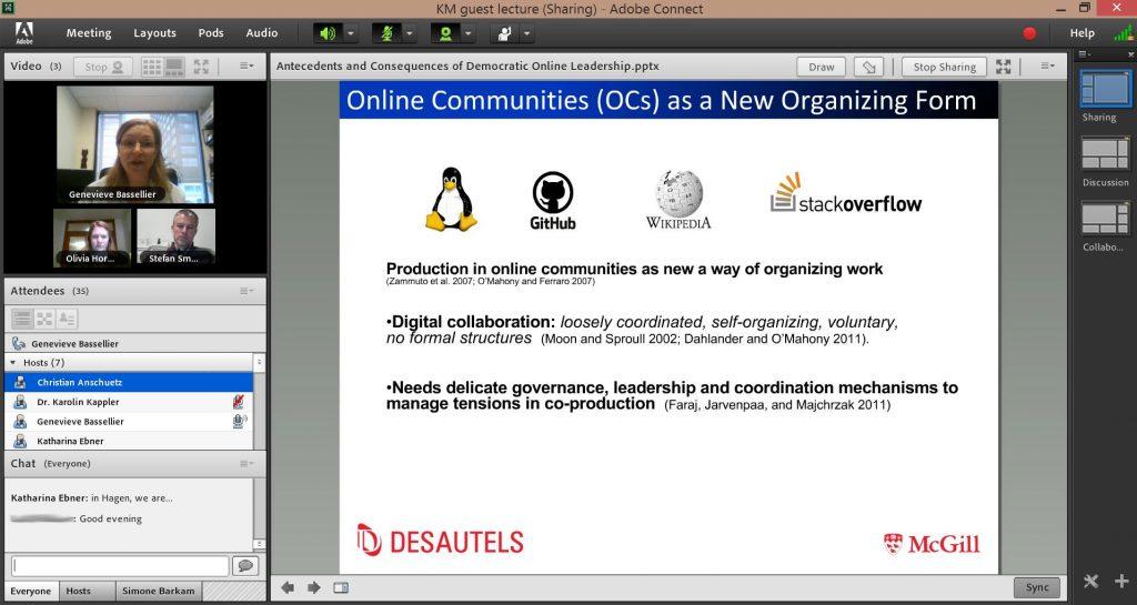 Screenshot Connect Meeting