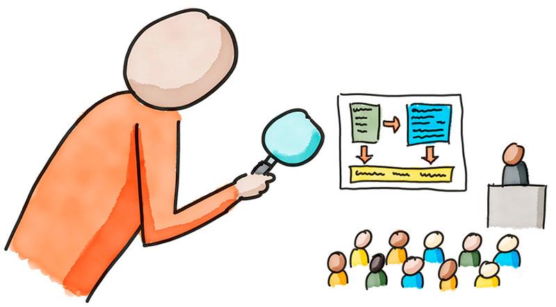 Illustration zum Thema Lehrevaluation