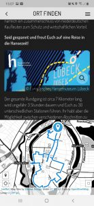 Screenshot Actionbound Hansemuseum Lübeck