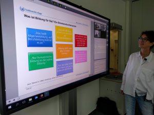 Szenario Hybridseminar mit Professorin de Witt