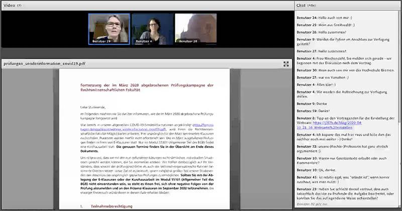 """Screenshot Video """"Open-Book-Klausuren"""""""