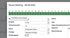 Screenshot Connectportal Meeting buchen