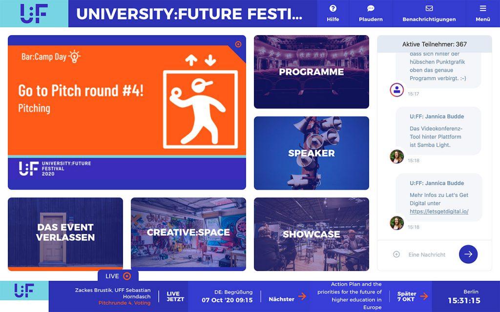 UFF Lobby, Screenshot