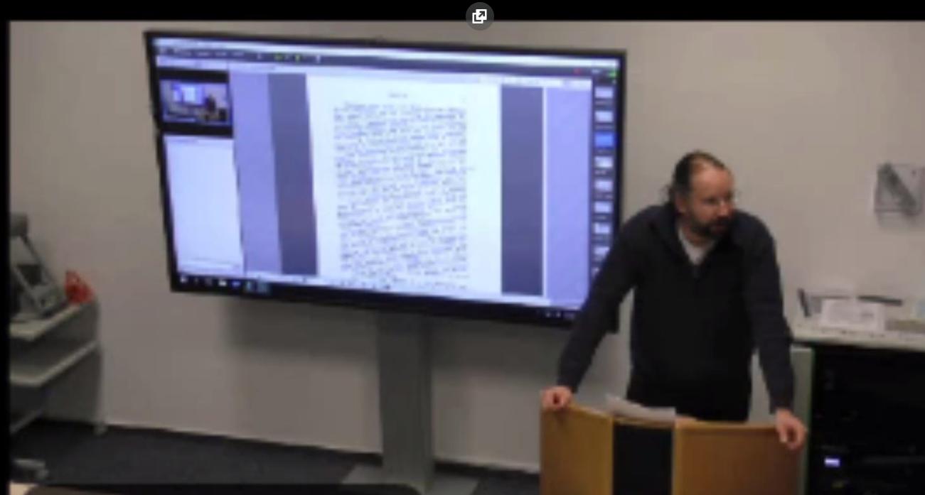 Screenshot zur Veranschaulichung einer Hybridvorlesung