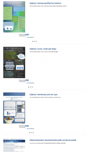 Screenshot der Postervorschau aus der Moodlelernumgebung