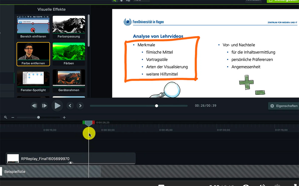 Screenshot Camtasia Tutorial