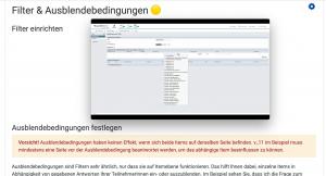 Screenshot Beispiel Lerninhalt zu UniPark
