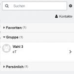 Screenshot davon, wie das Mitteilungssystem in Moodle 3.9 aussieht